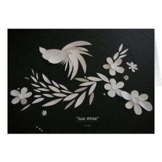 """'Just White"""" Greeting Card"""