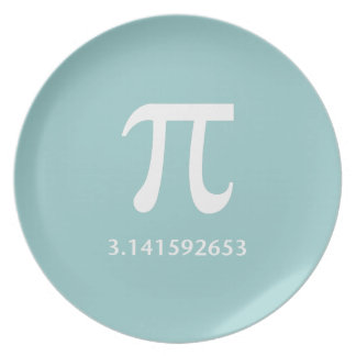 Just White Pi Nothing More 3.14 Dinner Plate