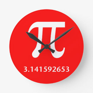 Just White Pi Nothing More 3.14 Round Clock