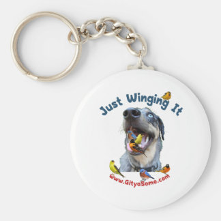 Just Winging It Bird Dog Keychain