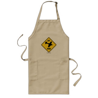 Just (Winging It Plane) Ahead Sign (Humor Sign) Long Apron