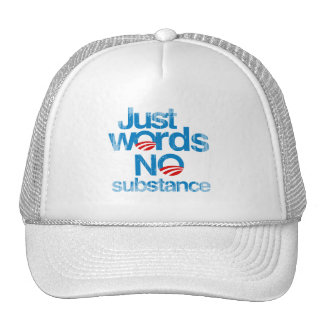 Just Words. No Substance Faded.png Mesh Hats