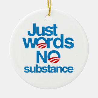 Just Words. No Substance Christmas Ornament