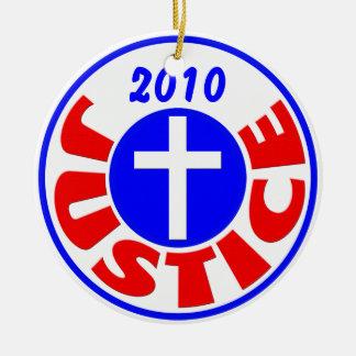 Justice 2010 ceramic ornament