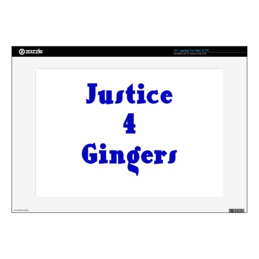 """Justice 4 Gingers Decals For 15"""" Laptops"""