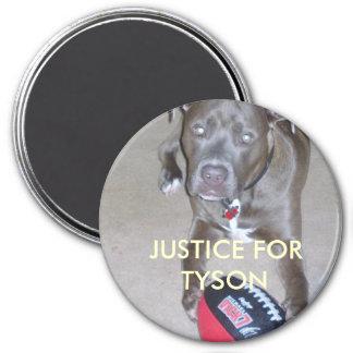 Justice 4 Tyson 3 Inch Round Magnet