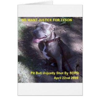 Justice 4 Tyson Card