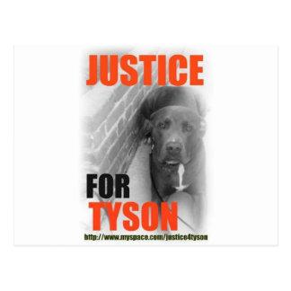 Justice 4 Tyson Postcard