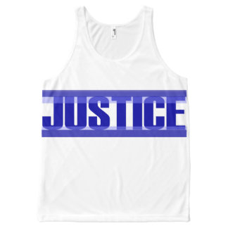 Justice All-Over Printed Unisex Tank, L All-Over-Print Tank Top