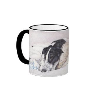"""""""Justice"""" Borzoi/russian wolfhound dog Art Mug"""