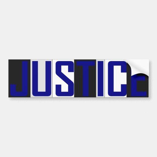 Justice Bumper Sticker Car Bumper Sticker