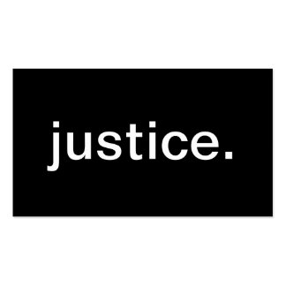 Justice Business Cards