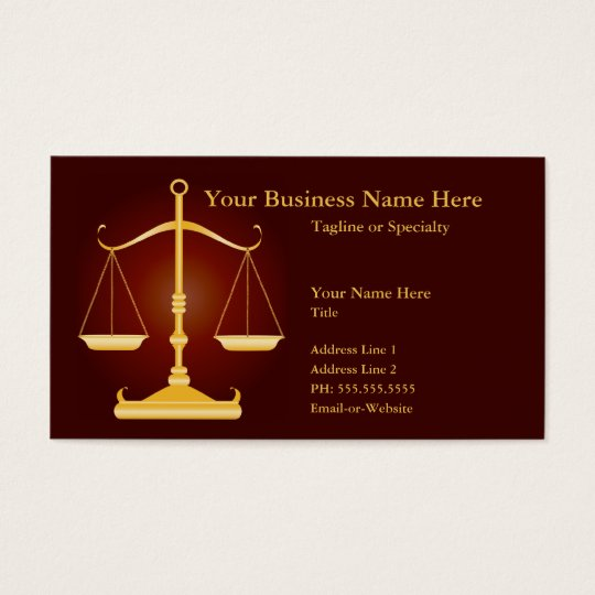 justice business card