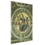 Justice by Raphael, Vintage Renaissance Art Stretched Canvas Print
