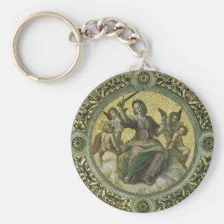 Justice by Raphael Vintage Renaissance Art Keychains