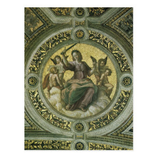 Justice by Raphael, Vintage Renaissance Art Post Card
