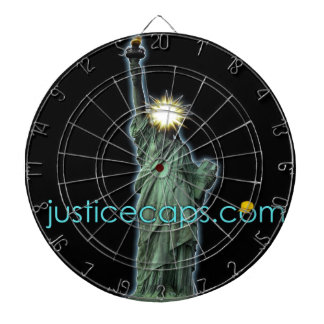Justice Caps: Justice Means Living Free Dartboards