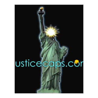 Justice Caps: Justice Means Living Free Customized Letterhead