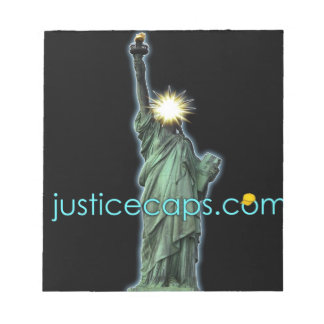 Justice Caps: Justice Means Living Free Note Pad