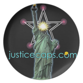 Justice Caps: Justice Means Living Free Plate
