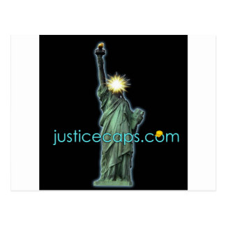 Justice Caps: Justice Means Living Free Postcard