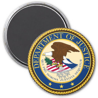 Justice Department 3 Inch Round Magnet