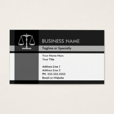 Justice Elegance Business Card at Zazzle