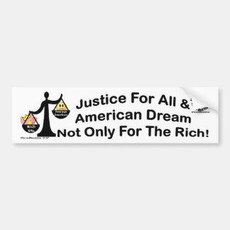 Justice For All 157 Bumper Sticker