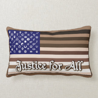 Justice for All Flag Lumbar Pillow
