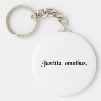 Justice for all. basic round button keychain