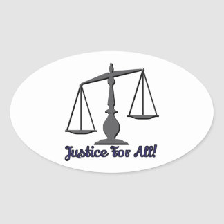 Justice For All! Oval Sticker