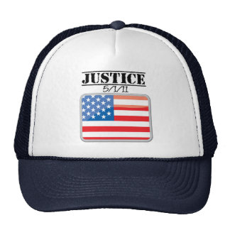 Justice for America 5/1/11 Trucker Hat