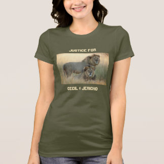 Justice for Cecil & Jericho Brother Lions T-Shirt