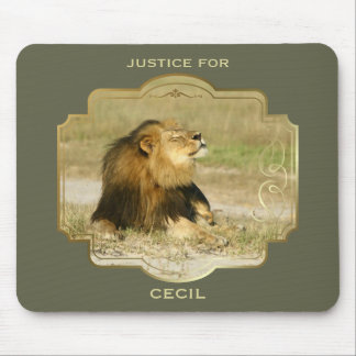 Justice for Cecil the Lion Killed in Africa Mouse Pad