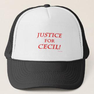 Justice for Cecil! Trucker Hat