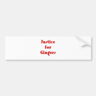 Justice for Gingers Bumper Sticker