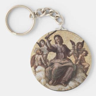 Justice, from the 'Stanza della Segnatura' Raphael Keychain
