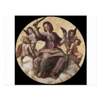 Justice, from the 'Stanza della Segnatura' Raphael Postcard