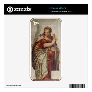 Justice, from the walls of the sacristy (fresco) iPhone 4 skins