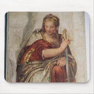 Justice, from the walls of the sacristy (fresco) mouse pads