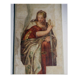 Justice, from the walls of the sacristy (fresco) print