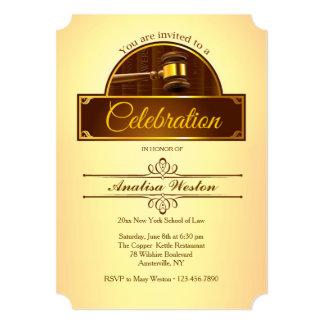 Justice Gavel Graduation Invitation