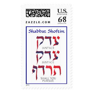 justice image, Shabbat Shoftim Stamp