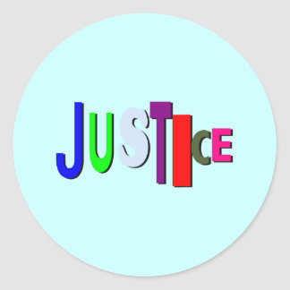 Justice in Color B Sticker