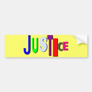 Justice in Color Bumper Sticker