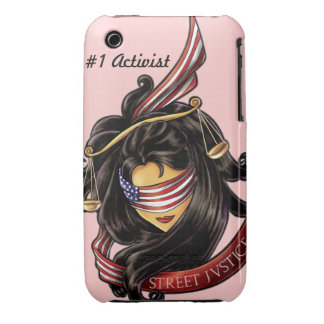 Justice Is Blind *Personalized* by Street Justice iPhone 3 Case