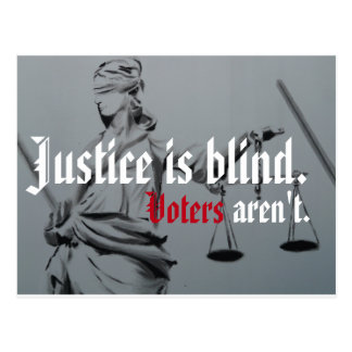 Justice is Blind Postcard