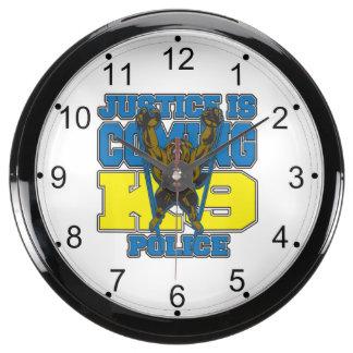 Justice is Coming K9 Police Aquarium Clocks