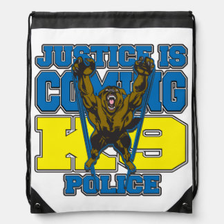 Justice is Coming K9 Police Cinch Bag