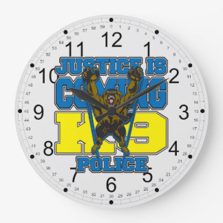 Justice is Coming K9 Police Clock